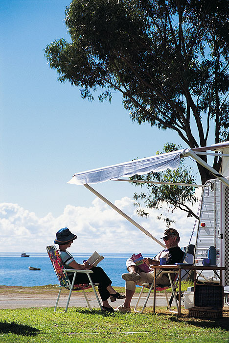 Caravan parks often have the best coastal real estate. Image by SA Tourism Commission