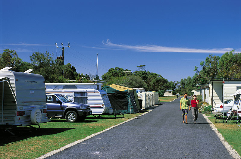 Robe Long Beach Caravan Park. Image by SA Tourism Commission