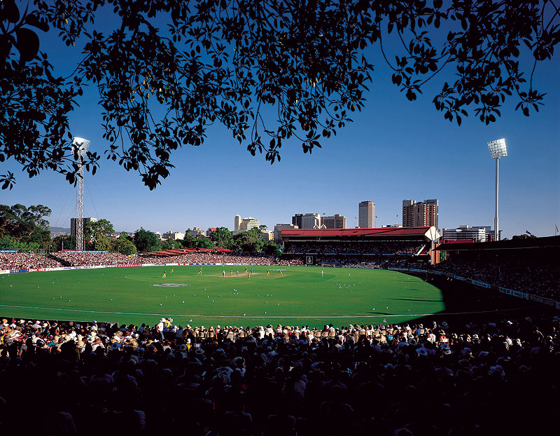 Take a $10 tour of the Bradman Collection at pretty Adelaide Oval. Image by SA Tourism Commission.