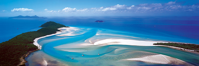 Whitehaven Beach and Hill Inlet would vie for most-photographed status in the entire Great Barrier Reef Marine Park. Image by Ken Duncan