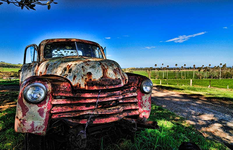 A lovely decrepit old car near Berry, NSW. Image by Dirk Spenneman