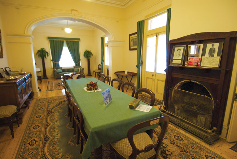 Inside Hoover House at Gwalia, northeast of Kalgoorlie. Image by Tourism WA