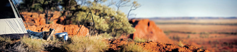 There are fewer more enjoyable outback experiences than camping out in the desert. Image by Tourism QLD