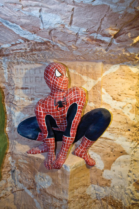 Is your Spider Sense tingling? It will be when you venture downstairs to the Chambers of the Black Hand at Lightning Ridge . . . Image by Rob Gordon