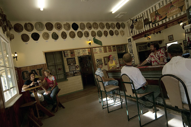Nindigully Hotel, Queensland's oldest pub,serving since 1864 in a town with just 6 people! Image by Tourism QLD