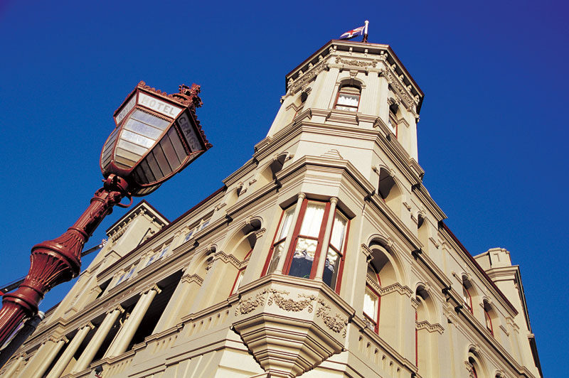 The recently refurbished Craig's Royal Hotel. Image by Tourism Victoria