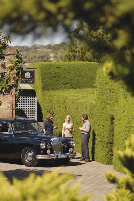 Wine tasting in style. Image by Barossa Daimler Tours