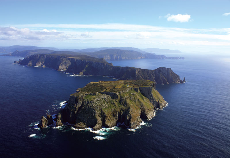 """This is The Fingers in the southeast corner of Tasman Island. During the Sydney to Hobart race, the yachts come past here. They're some of the highest sea cliffs in the world."" Image & words by Senator Bob Brown"