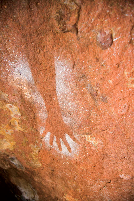 Some of the rock art to be seen along the trail. Image by Grenville Turner