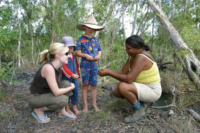 Youngsters learning the ways of the bush. Image by Kimberley Wild Expeditions