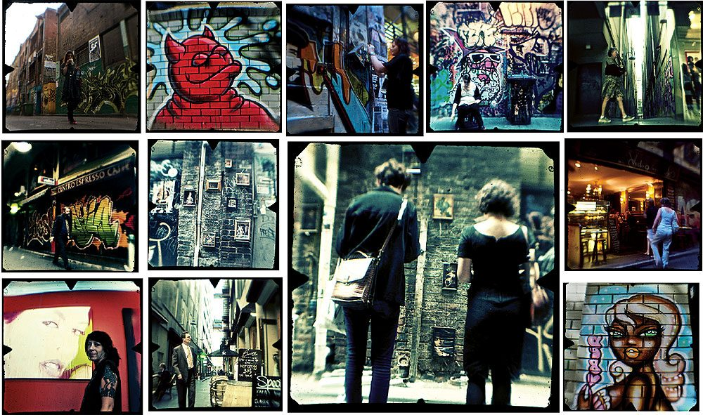 An urban art gallery in Presgrave Place, parallel to Little Collins, off Howey Place. Images by Professor Dirk HR Spennemann