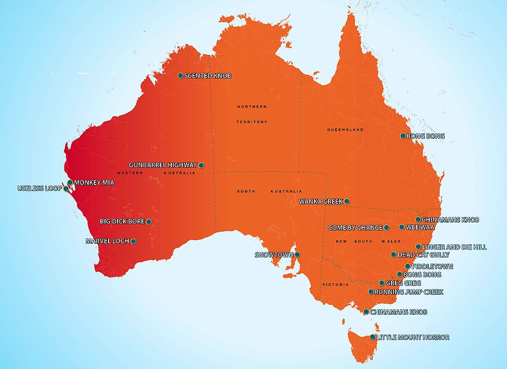 Some of Australia's weirdest place names.