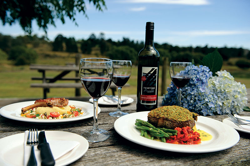 Fine pub fare overlooking Nicole Kidman's new property next door. Image by Terry Muller- Maher, Sutton Forest Inn