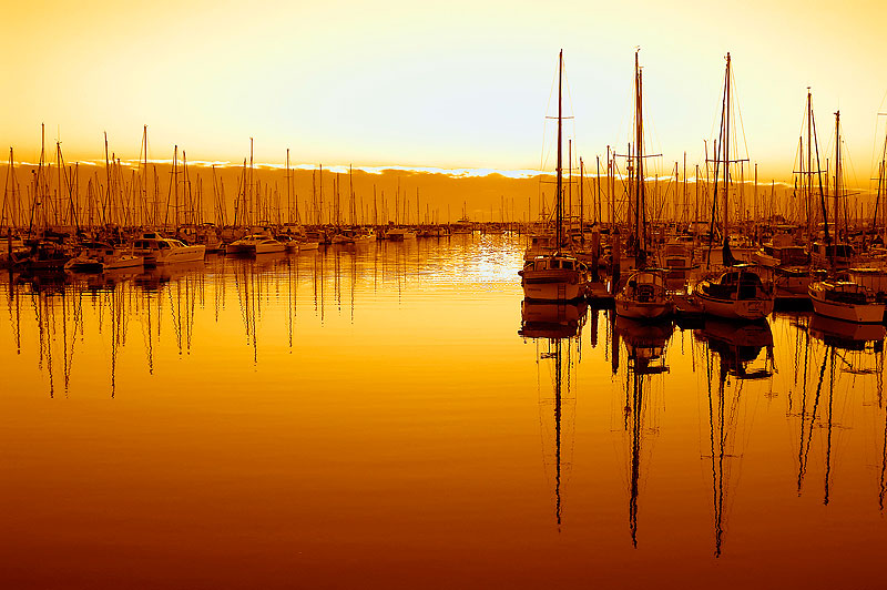 AT Reader Matt Nash-Arnold took this photo one cool winter morning as the sun rose over Manly Boat Harbour, QLD