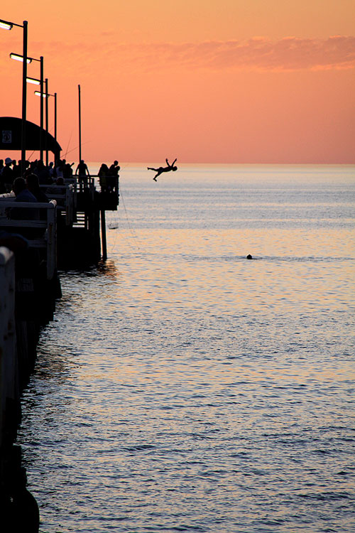 On a balmy night at Henley Beach in Adelaide, AT Reader Jo Brusa found a few of the locals doing what they do best.