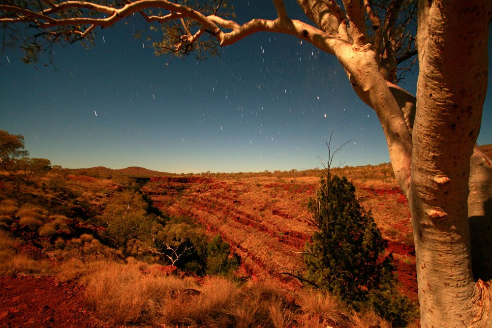 Nighttime at Karajini National Park in the Pilbara region in WA, by AT Reader Carl Drechsler.
