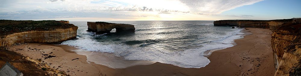London Bridge in Port Campbell National Park, enjoying a picturesque sunset, by AT Reader Chee Tay.