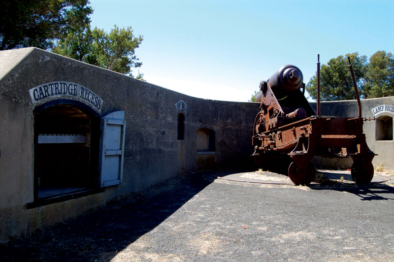 The Battery Point cannon is fired every Sunday at noon sharp -- image by Leanne Nelson