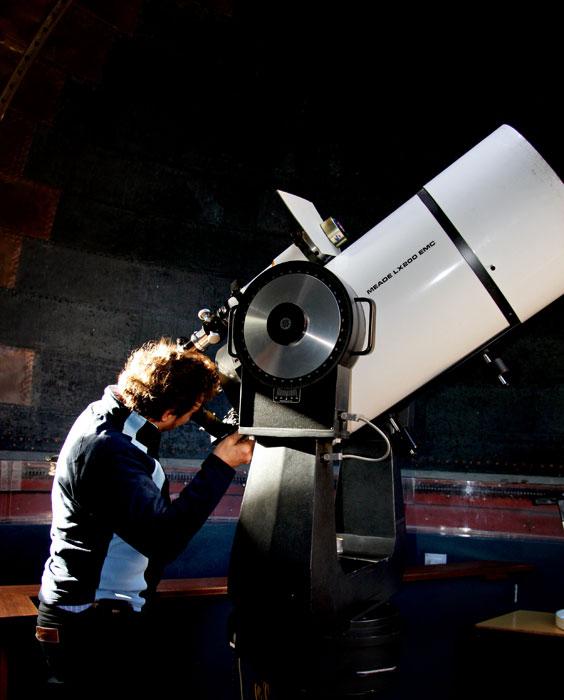 Searching the Skies at the Observatory -- image courtesy of Jess Thompson