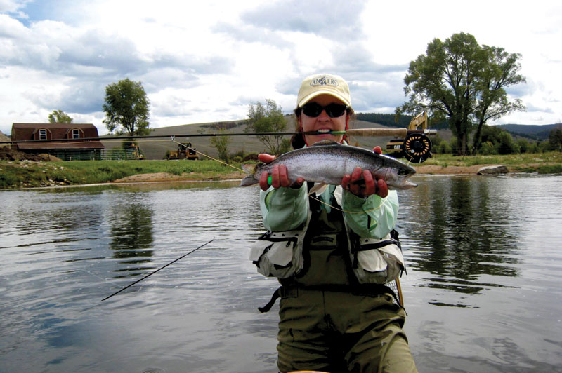 Don't overlook a spot of fly-fishing with your next girl's weekend away. Image by Bug Eater