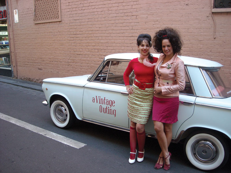 "Imagine being escorted around town from store to quirky store by ""Betty"" and ""Miss Shirley"" in a lovingly restored Fiat 1500? Image by hiddensecretstours.com"