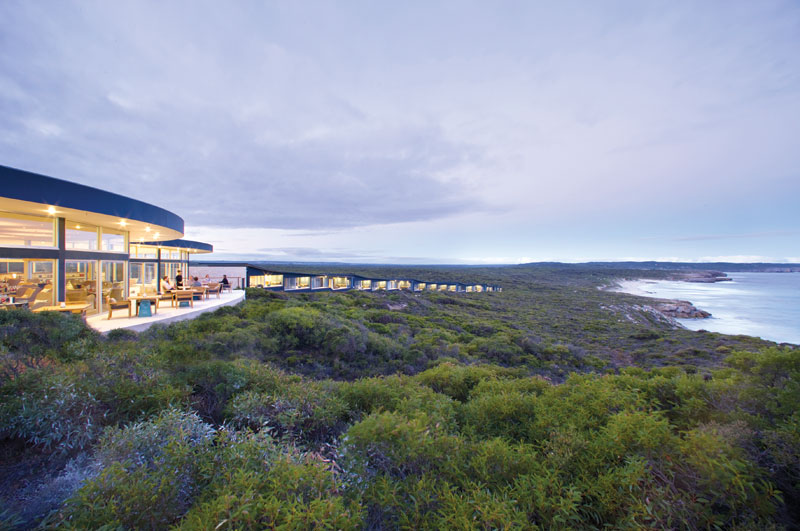 Southern Ocean Lodge on Kangaroo Island, considered one of Australia's top eco-tourism experiences. Image by Tourism SA
