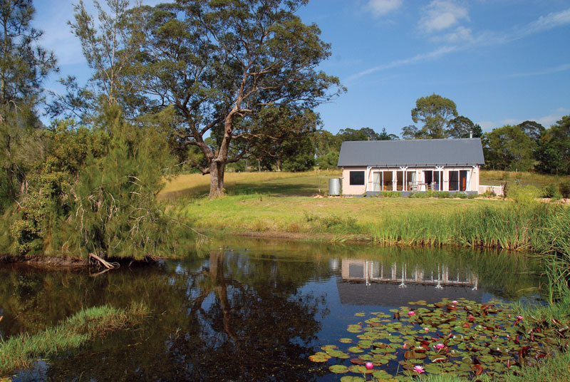 One of the eco-cabins at Crystal Creek Meadows in the NSW Kangaroo Valley – the first in NSW to earn Climate Action Certification. Image by Crystal Creek meadow