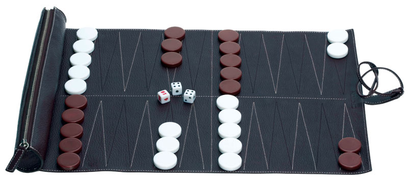 13/ Oroton backgammon set. $195