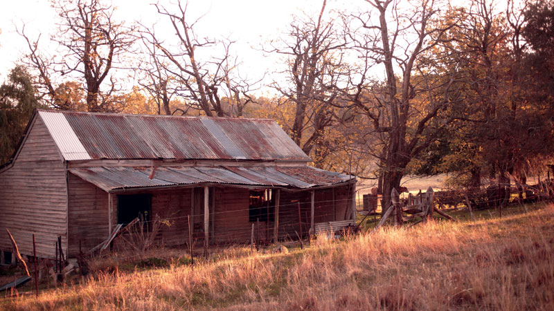 An old abandoned farmhouse near Beechworth. Image by Ewen Bell