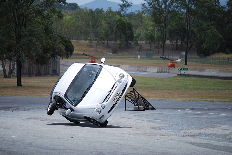 Stunt Driving Schools teach everything from two-wheeled James Bond manoeuvres to 180º J Turns. Image by Adrenalin