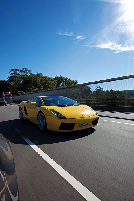 Thanks to the Supercar Club, you can take a a Lamborghini Gallardo Spyder for a spin. Image by Rob Gordon