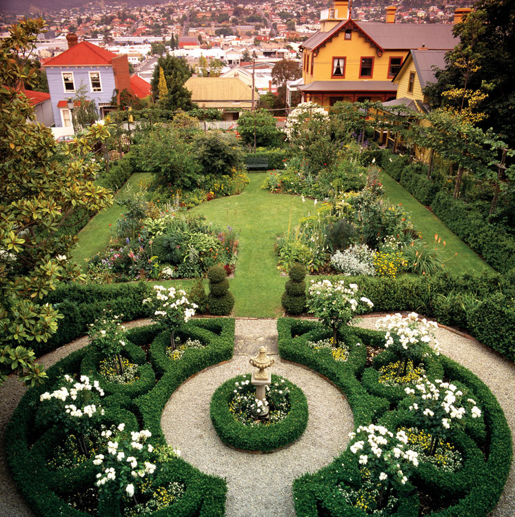 Sitting on land that was once a convict-run vegetable garden in one of the oldest and quaintest areas of Hobart are three historical and National Trust-classified cottages, surrounded by lovingly tended gardens.
