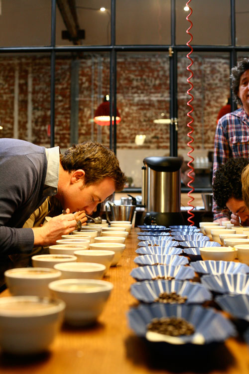 Seven Seeds runs several educational congregations in the cupping room, where the mere quaffer of coffee can learn more about every part of the process, from picking, roasting and transportation through to tasting.
