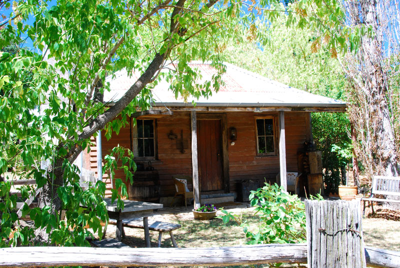 The Settlers Hut retains some of its original features and a distinct air of rugged, old-world romance.