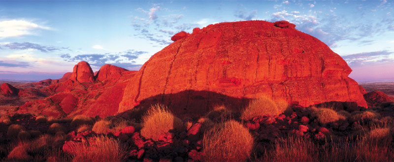 Olgas Sunrise, shot prior to any restrictions, but now off-limits to everyone.