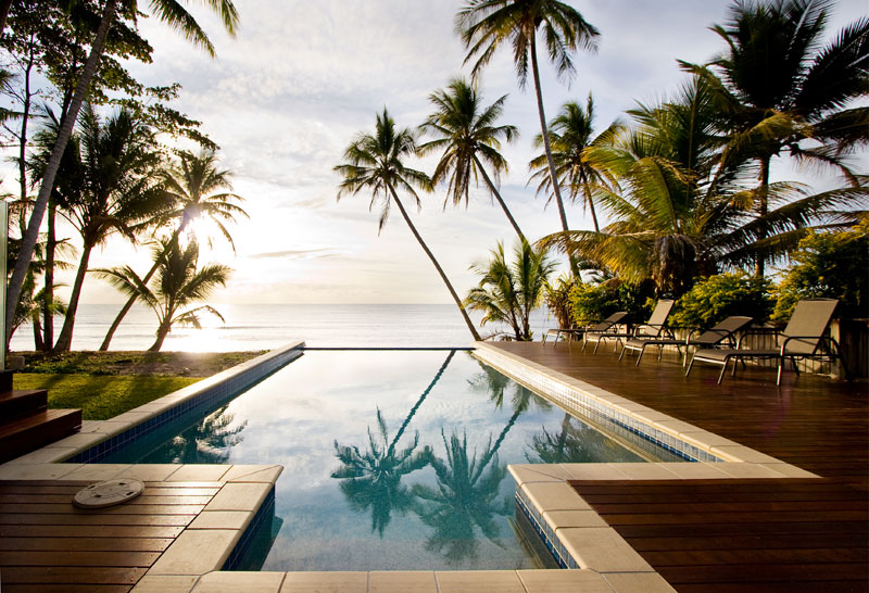 the gorgeous wet-edge infinity pool at Mystique Beach House. Image by Mystique Beach House