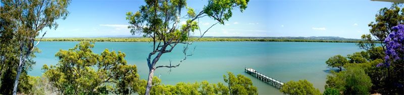Owners Debbie and Paul Wybrow were bowled over by the views on Macleay Island.