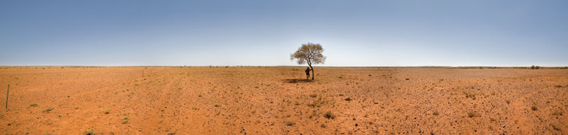Donald Sampson showed photographer Peter Eve around his property, Welbourne Hill Station on the Oodnadatta Track, where stock levels were particularly low. Photograph by Peter Eve.