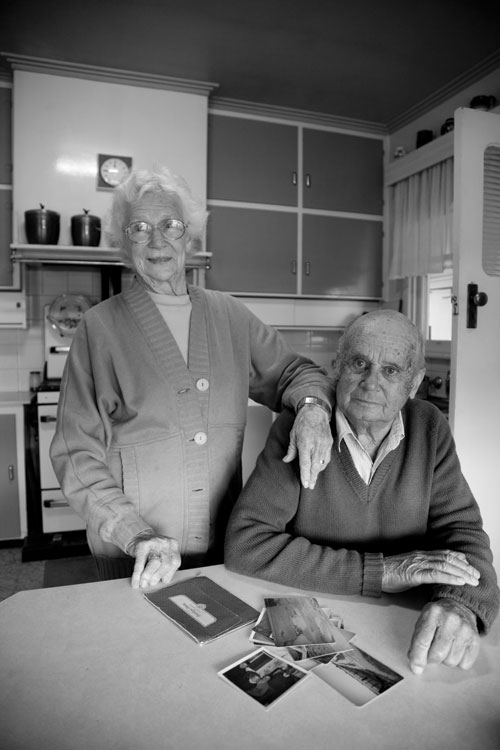 Lorna and John Petrass in the kitchen of their property in Victoria's Wimmera district, near Horsham, in 2008. Photograph by Andrew Chapman.