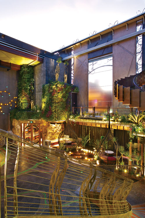 Inside one of Fortitude Valley's most talked about new venues, Cloudland, with its plethora of living plants and retractable glass ceiling.
