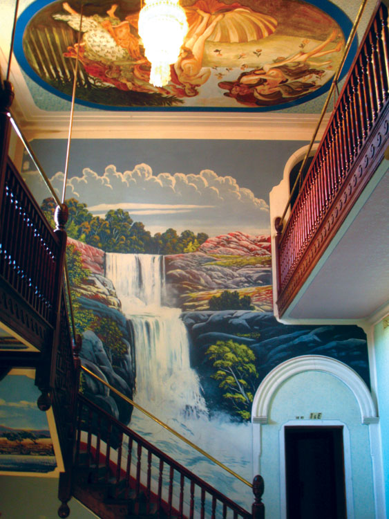 Magnificent murals at the Palace Hotel in Broken Hill