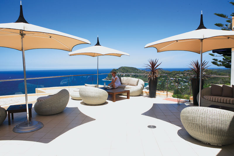 Peering over Whale Beach from the terrace at Jonah's, Greg Barton's pick of accommodation in 2009.