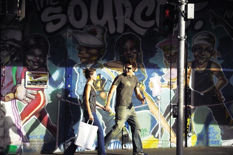 Murals along Ann Street