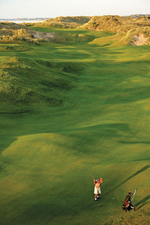 """""""If Tasmania's Barnbougle Dunes was an actress, it would be Angelina Jolie: wild, a bit different, gob-smackingly spectacular in the flesh, and with loads of interesting curves and bumps."""""""