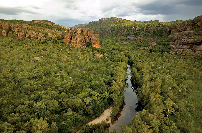 Plunging gorges, huge boulders and overhanging platforms dominate the Arnhem Land Escarpment.