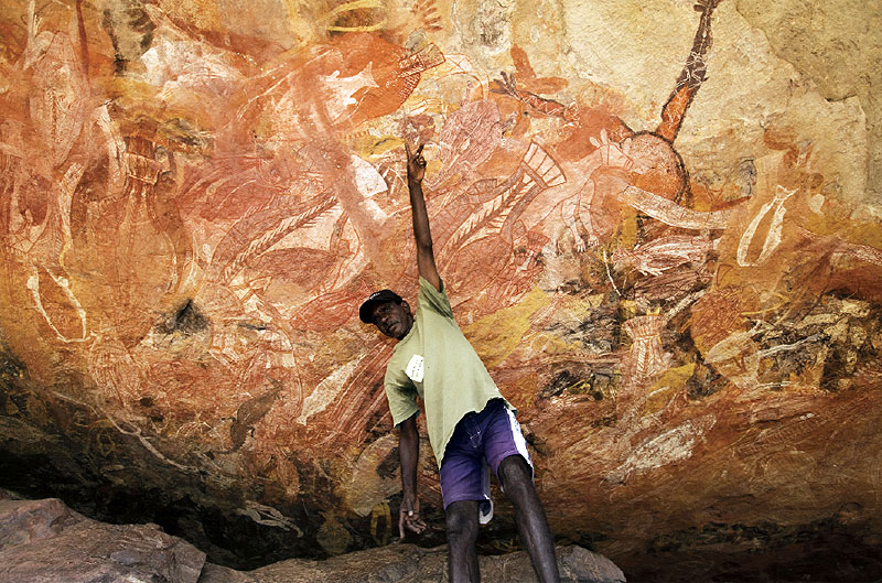 The rock art at Injalak Hill represents some of the most spectacular in all of Arnhem Land.