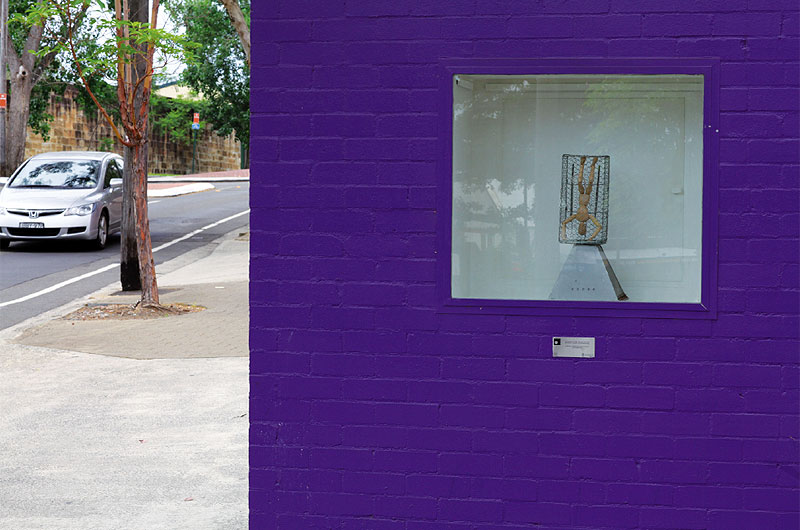 Could this be the world's smallest art gallery? It's the Three Foot Square Gallery in Paddington.