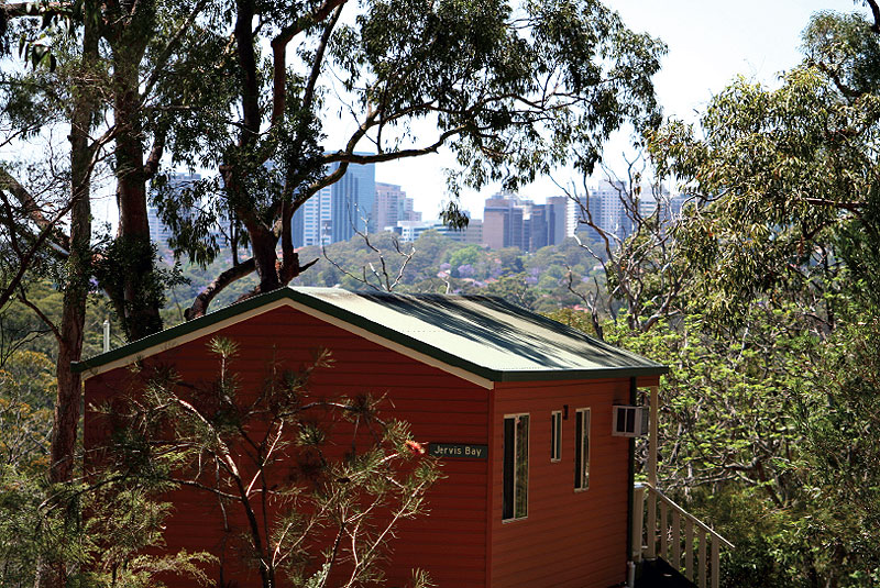City views from Lane Cove River Tourist Park