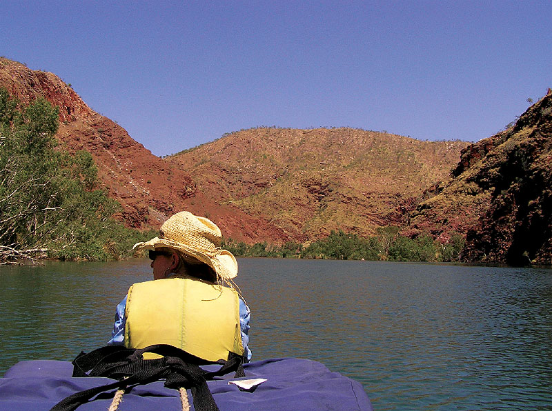 Paddling along the Ord River is a great way to experience the wonders of the Kimberley firsthand.