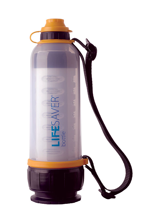 Lifesaver Bottle for precious clean water on the spot